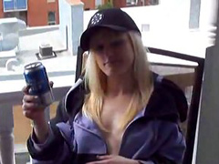 Topless bitch asked to film her naked body in process