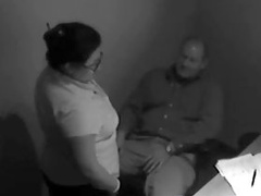 Chubby slut agreed to suck her new boss